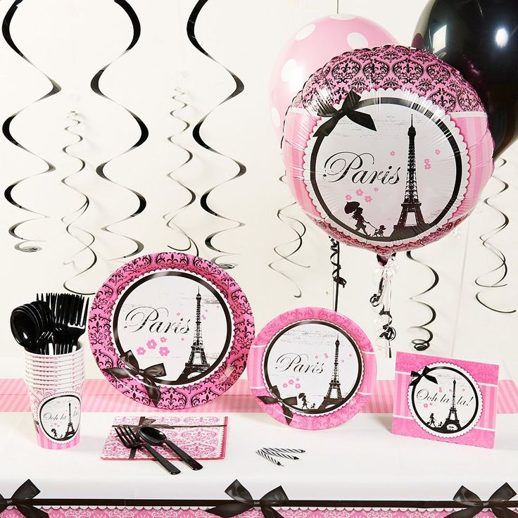 Paris Damask Party Supplies for 16, Other Clrs