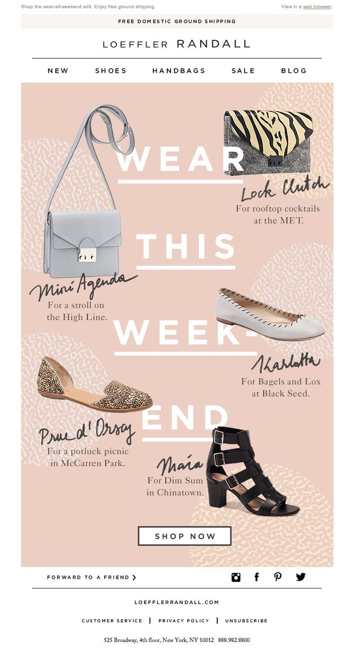 #newsletter Loeffler Randall 07.2014 Goes Well With Summer Fridays