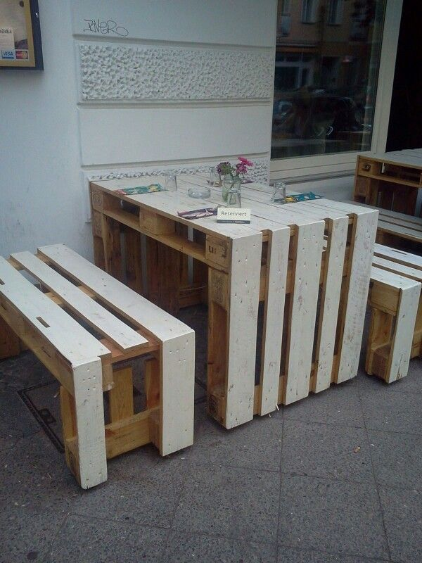 diy europalette tisch bank diy pinterest pallets and. Black Bedroom Furniture Sets. Home Design Ideas