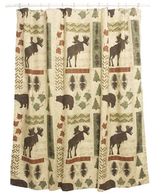 Bacova Guild Big Country Fabric Print Shower Curtain Is Made Of Cotton Duck And Machine Washable Decorate Your Bathroom With This Lodge Look