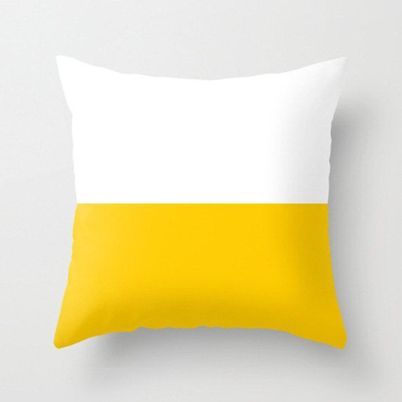 bauhaus yellow cushions pillows decorative pillows. by GorgeousGD