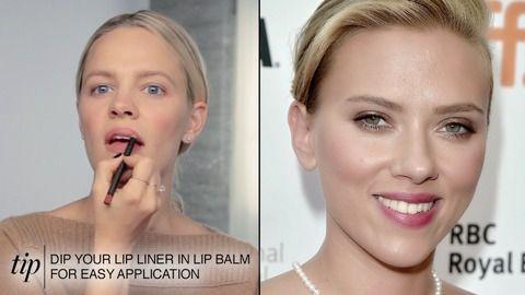 スカーレット・ヨハンソンのふっくら唇の作り方。 【ビューティ・アイコン】