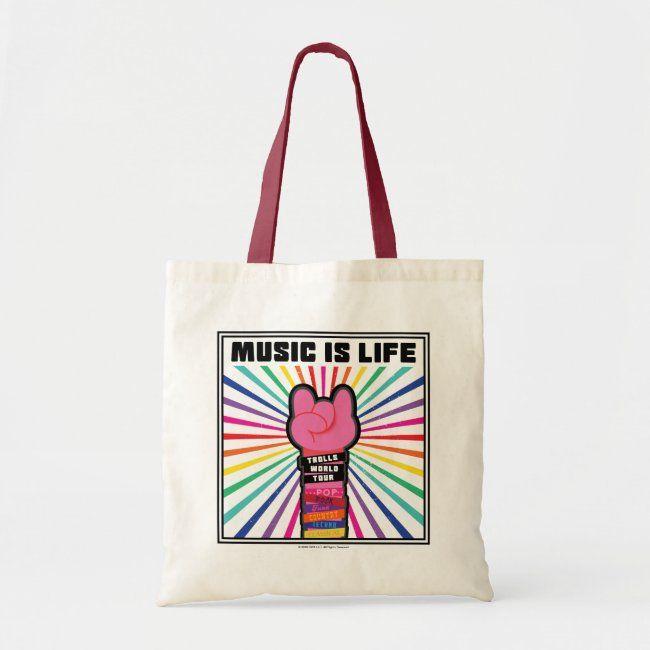 Download Trolls World Tour Poppy Music Is Life Tote Bag Zazzle Com Tote Bag Poppy Music Tote
