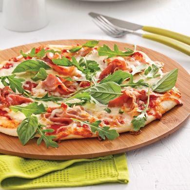Pizza margarita au prosciutto et roquette - Recettes - Cuisine et nutrition - Pratico Pratique