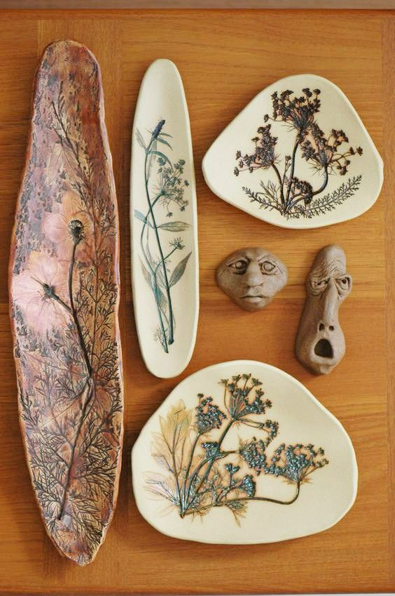 Pressing flowers and painting details