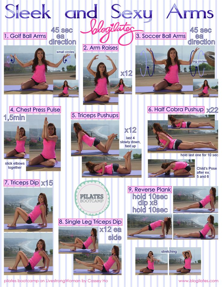 Pilates boot camp- Arm exercises