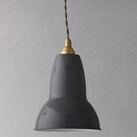 Buy Anglepoise Original 1227 Brass Pendant, Elephant Grey Online at johnlewis.com