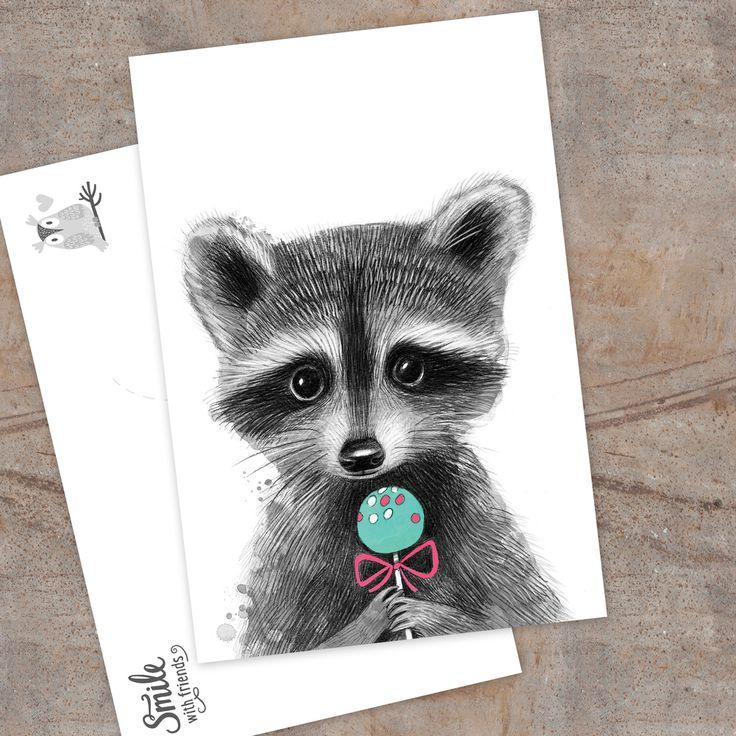 Малыш енотик - открытка