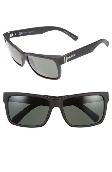 Women's VonZipper 'Elmore' 61mm Rectangular Sunglasses - Sin/ Black Satin