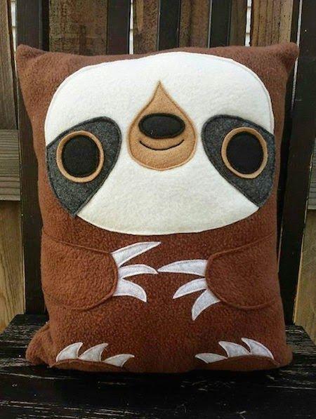 felt sloth pillow