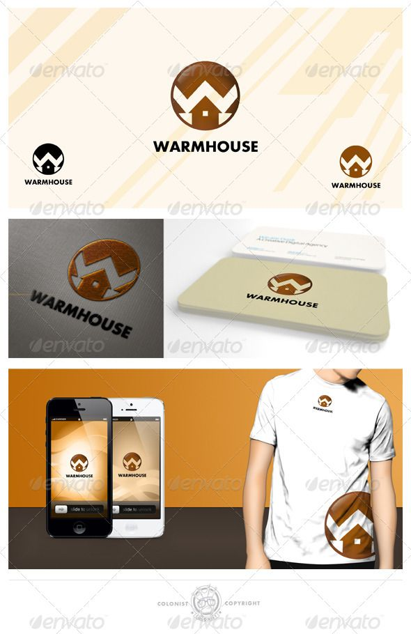Warmhouse Logo — Photoshop PSD #home service #rent • Available here → https://graphicriver.net/item/warmhouse-logo/4038173?ref=pxcr