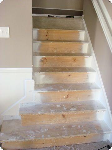 take carpet off stairs