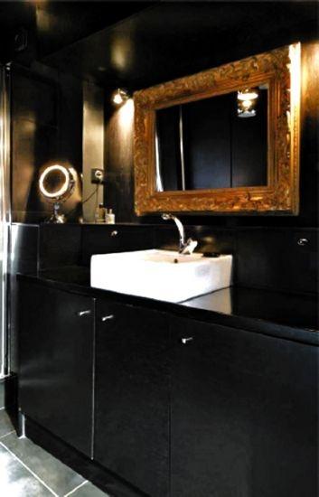 Salle de bains en Noir et Or  - Conception Paris Sweet Home Deco -
