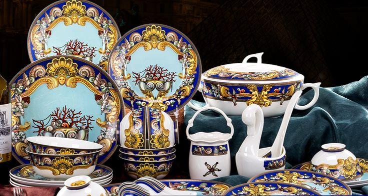 30 шт. Цзиндэчжэнь керамическая посуда стиль полноценно костяного фарфора западной кухни Пномпень океан любви 12zp 5б купить на AliExpress