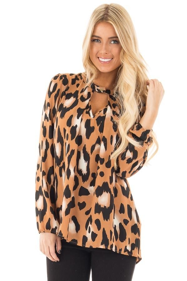 Lime Lush Boutique - Camel Animal Print Blouse with Key Hole Details, $48.99 (https://www.limelush.com/camel-animal-print-blouse-with-key-hole-details/)