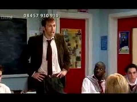 David Tennant and Catherine Tate. Definitely worth watching. Even if its just to hear David Tennant's Scottish accent.