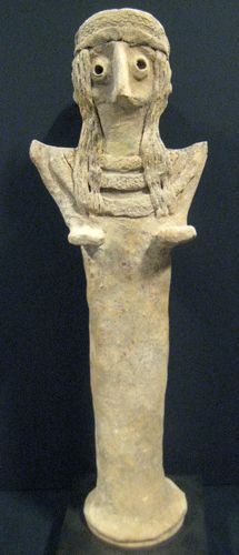 Sumerian sculpture of the goddess Inanna/ Venus; later  barrowed by a horde of cultures  Circa: 3900 BC