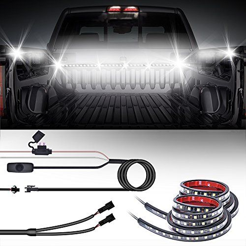 """MICTUNING 2Pcs 60"""" White LED Cargo Truck Bed Light Strip Lamp Waterproof Lighting Kit with On-Off Switch Fuse 2-Way Splitter Cable for Jeep Pickup RV SUV and More - http://www.caraccessoriesonlinemarket.com/mictuning-2pcs-60-white-led-cargo-truck-bed-light-strip-lamp-waterproof-lighting-kit-with-on-off-switch-fuse-2-way-splitter-cable-for-jeep-pickup-rv-suv-and-more/  #More, #2Pcs, #2WAY, #Cable, #Cargo, #Fuse, #Jeep, #Lamp, #Light, #Lighting, #MICTUNING, #OnOff, #Pickup, #"""