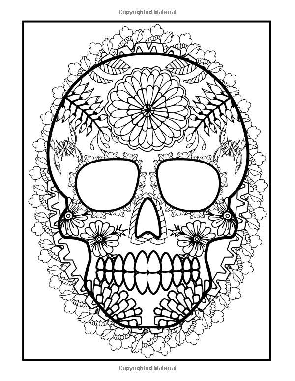533 best d a de los muertos images on pinterest sugar for Dia de los muertos skull coloring page
