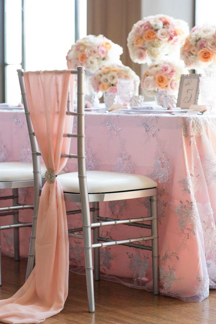 Chair sashes styles - Gorgeous Chair Draping Blush Chair Covers For An Elegant Wedding Www Elegantwedding Ca