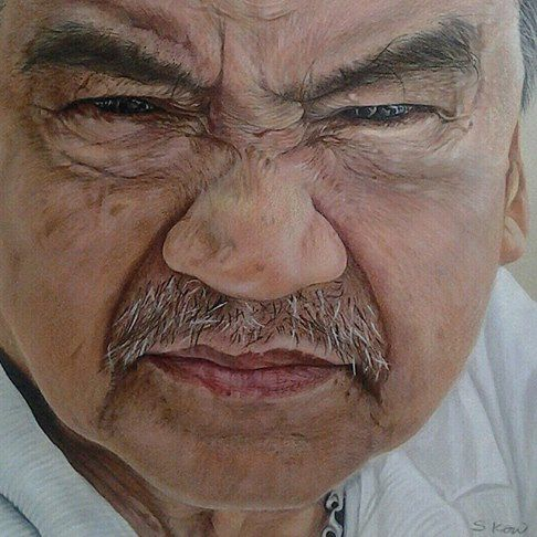 "Welcoming our newest member @tlxsk Sharon #PencilArt #ColoredPencils #Desenho #Lapis #Wrinkles #Frown #Father #Drawing #Closeup #Eyebrows #Penang #Malaysia  ""Stand Back 200ft"" - ""A portrait of my late father""  Sharon was born in Malacca and now resides in Penang, Malaysia.  Colored People® Network is a private global multicultural artistic community. All rights are reserved by the artists who created the works referenced herein. We are sponsored by http://HealthRoads.net/ @ZealForLifeProd"