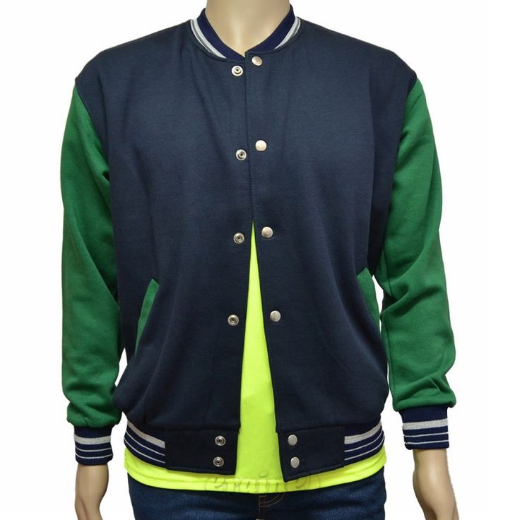 Varsity Jacket Navy Blue Green