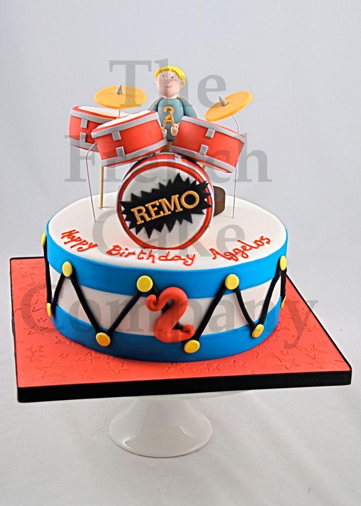 Cake for boys Drum - Gateau D'anniversaire Pour Enfants - garcon Tambour - Verjaardagstaart