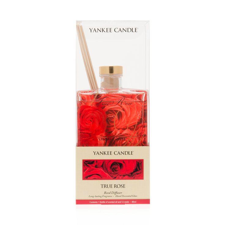 Yankee Candle L'Amore è nell'Aria, set 2 diffusori con bastoncini fragranza True Rose