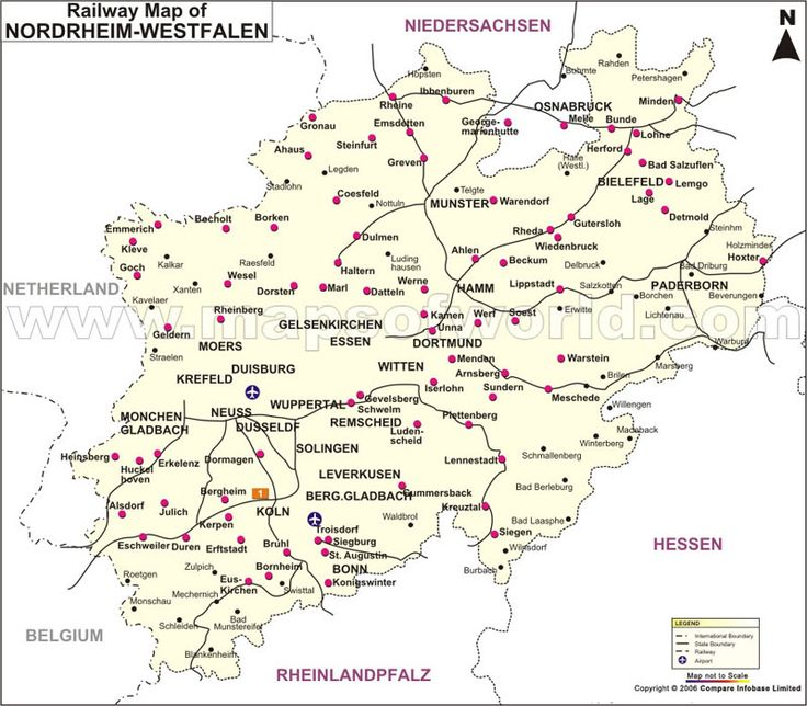 27 best germany images on pinterest germany maps and city maps the railway map of nordrhein westfalen shows the rail network and major stations in the state sciox Images