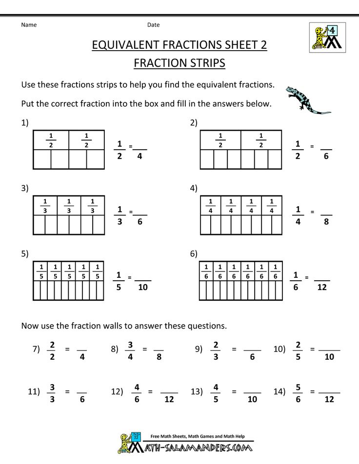 The 25+ best Math fractions worksheets ideas on Pinterest | Math ...