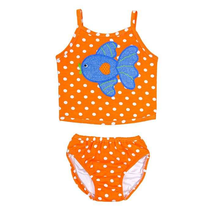 Bubble Fish Girls Knit Two-piece Swimsuit