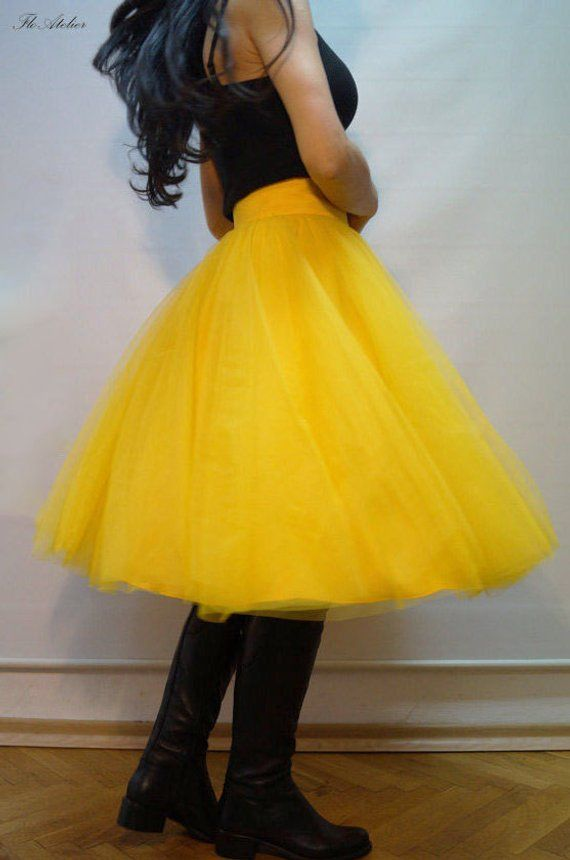 3d2d82522 Women Tulle Skirt/Tutu Skirt/Princess Skirt/Skirt/Short Skirt/Yellow Tutu  Skirt/Ballet Skirt/Grunch