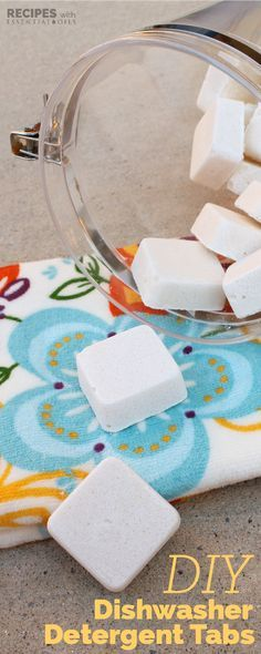 Homemade Dishwasher Detergent Tabs without toxic chemicals! | RecipesWithEssentialOils.com