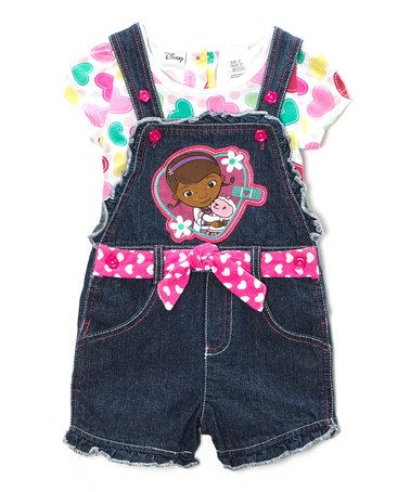 Look what I found on #zulily! Pink Heart Doc McStuffins Tee & Shortalls - Toddler #zulilyfinds