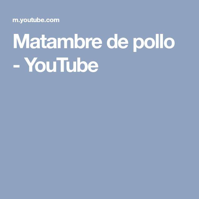 Matambre de pollo - YouTube