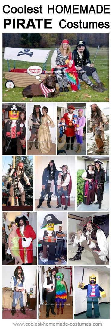 Homemade Pirate Costume Collection - Coolest Halloween Costume Contest
