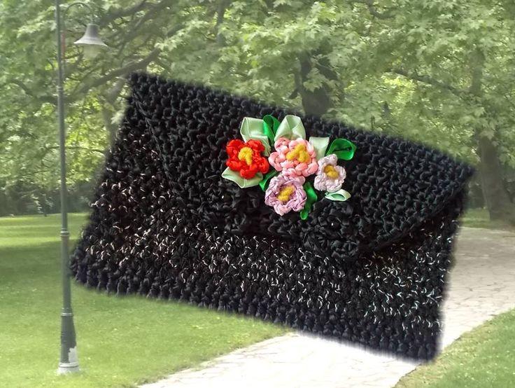 crochet envelope bag - handmade