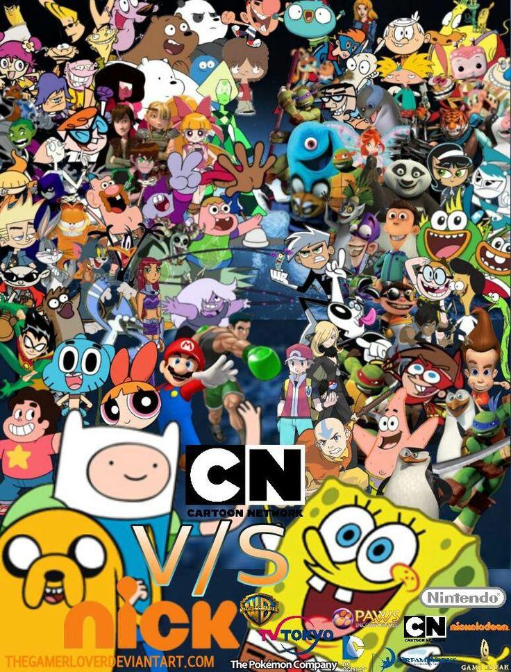 Cartoon network vs nickelodeon cartoon network