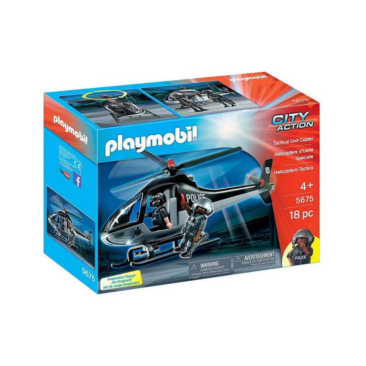 Playmobil Tactical Unit Helicopter - 5675, Multicolor