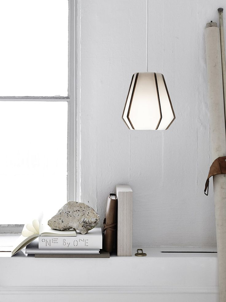 Beautiful lights by Swedish designer Monica Forster made from stone paper.