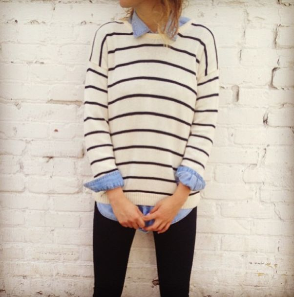 chambray / stripes / black / outfit