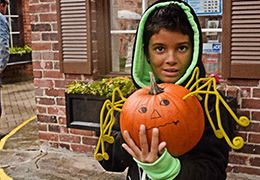 """Treats in Our Streets in Downtown Burlington -Get an early start on your trick or treating with this family oriented event in the downtown core on October 31.  Dress up the kids (and join in with a costume of your own) and pick up your """"treat bag"""" and map at Civic Square or Emma's Back Porch then head out for some daytime trick or treating.  Make sure to leave time for the other activities that include face painting, a bouncy castle and more."""