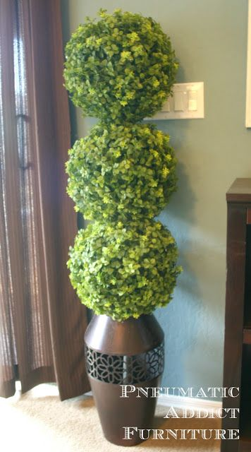 Pneumatic Addict Furniture: DIY Boxwood Topiary. Need to make a pair of these for the front door.