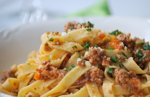 Ragu alla Bolognese with Homemade Tagliatelle - This looks AHH-MAZING ...