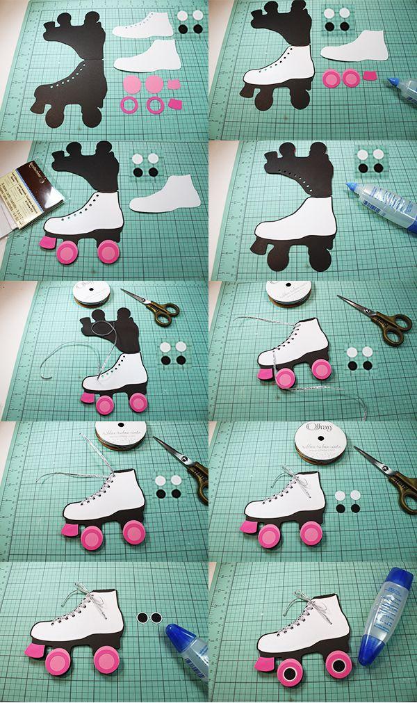 Jmrush Designs Carte De Patin A Roulettes Roller Skate Birthday Party Roller Skate Birthday Skate Birthday Party