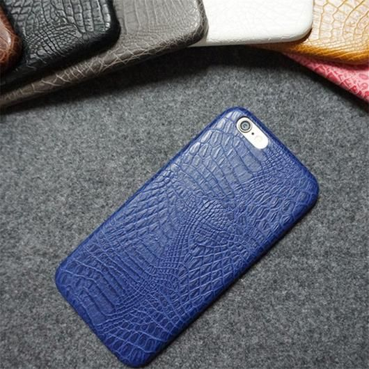 Blue Leather Crocodile Snake Case for iPhone 6 and Up