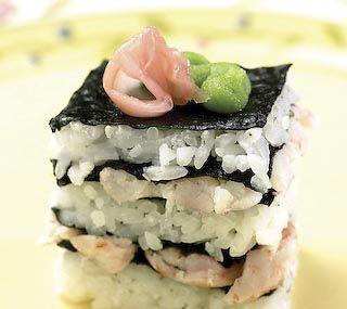 Shrimp Sushi Squares