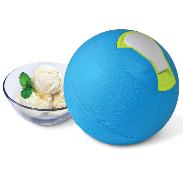 The Kickball Ice Cream Maker, A Rubber Ball That Uses Physical Activity to Make a Pint of Ice Cream