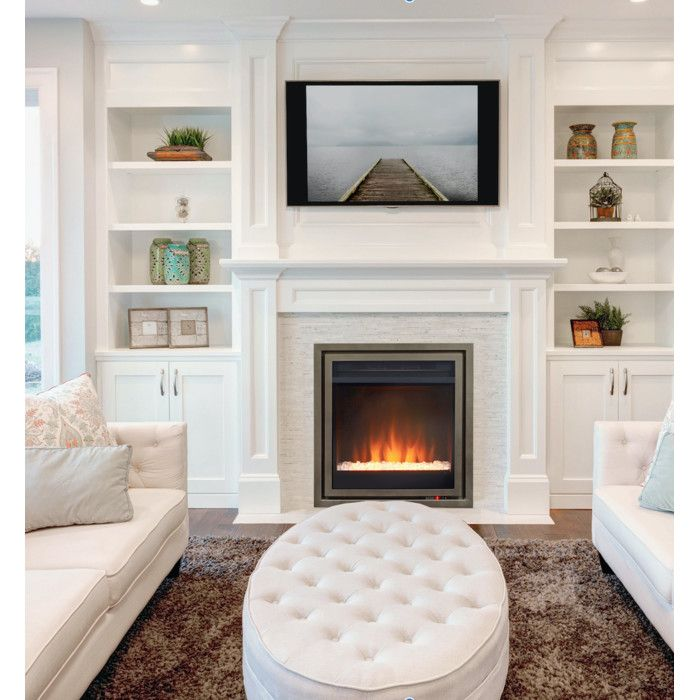 Never considered installing an electric fireplace into the master bedroom....   Pacific Heat Wall Mount Electric Fireplace Insert & Reviews | Wayfair.ca