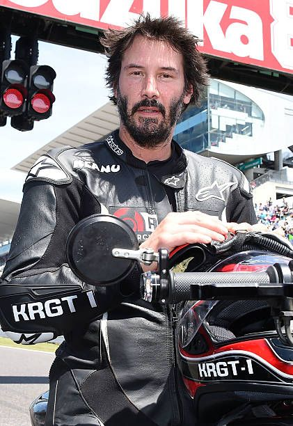 Keanu Reeves is seen during the opening ceremony of the Suzuka 8 Hours at the Suzuka Circuit on July 26 2015 in Suzuka Japan